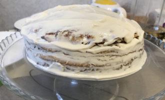 Тортик из блинов с кремом