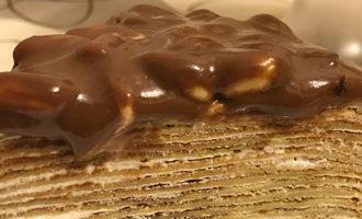 Банановый блинный торт