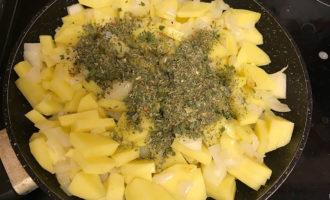Приготовление каурмы из картофеля