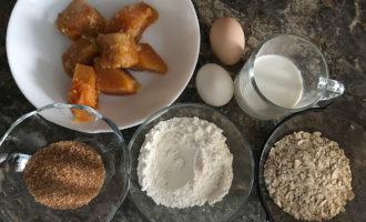Ингредиенты для тыквенных вафель