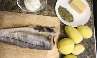 Рыба с картошкой и сыром