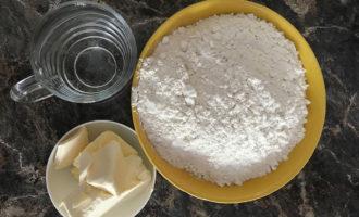 Ингредиенты для слоеного теста