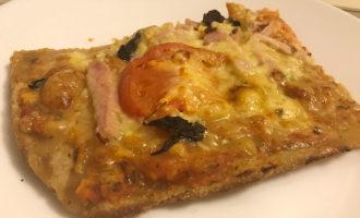 Пицца из цельнозерновой муки на кефире