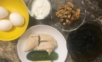 Ингредиенты для салата Нежность