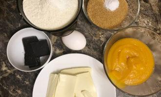 Ингредиенты для тыквенных печеньев