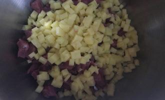 Картошка и мясо для начинки