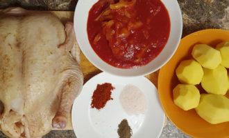 Ингредиенты для блюда из курицы