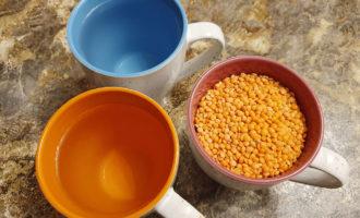 Пропорции чечевицы и воды