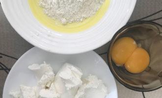 Ингредиенты для творожных шариков